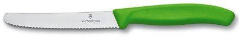 Долговечный кухонный нож для нарезки фруктов и овощей Victorinox SwissClassic 67836.L114 зеленый