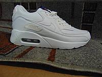 Женские повседневные кроссовки NIKE Air Max белые натуральная кожа