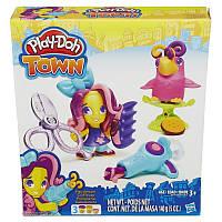 """Набор пластилина Play-Doh Town """"Парикмахер и птичка""""  B5973"""