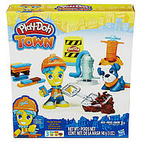 """Набор пластилина Play-Doh Town """"Дорожный рабочий и щенок"""" B5972"""