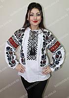 """Народная женская вышитая сорочка """"Борщивка"""" с мережкой"""