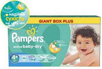 Подгузники Pampers Active baby р.4+ 9-20кг 96шт