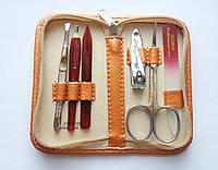 Дорожный набор инструментов для маникюра GLOBOS 992-7 orange