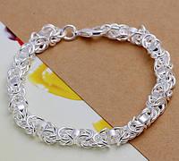 Браслет покрытие стерлинговое серебро код 882