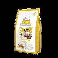 Brit Care Cat Sunny I´ve Beautiful Hair корм с мясом лосося и рисом для взрослых кошек 2кг