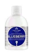 Живительный шампунь для поврежденных, сухих, химически обработанных волос Kallos Blueberry
