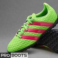 Детские сороконожки Adidas ACE 16.4 TF Junior Green