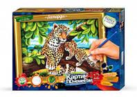 Набор для творчества картина по номерам леопарды