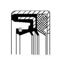 Сальник дифференциала PSA 43X59X10 FPM RWDR-KOMBI (производство Corteco ), код запчасти: 07019089B