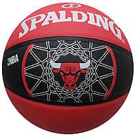 Мяч баскетбольный резиновый №7 SPALDING NBA TEAM BULL