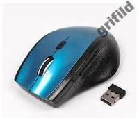 Беспроводная оптическая мышка мышь MR-309 Blue