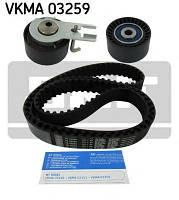 Ремень ГРМ с роликами, комплект Citroen (производство Skf ), код запчасти: VKMA 03259
