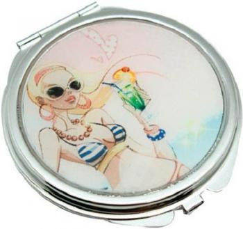 Стильное карманное зеркальце Девушка на отдыхе Jardin D'ete HS-24389B