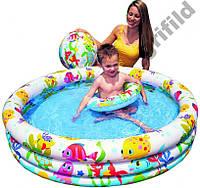 Детский надувной бассейн Intex 59469 + круг + мяч