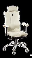 Кресло Kulik System Elegance  с перфорированной экокожей White (ID: 1004)