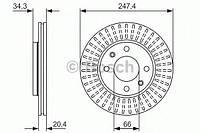 Тормозной диск передний (производство Bosch ), код запчасти: 0986479861