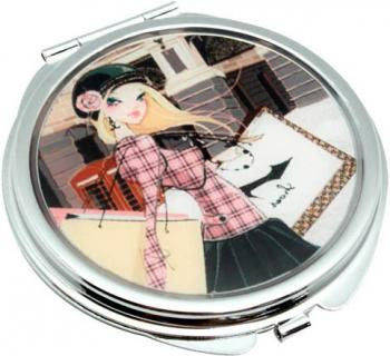 Романтичное карманное зеркальце Девушка-кокетка Jardin D'ete HS-24389J