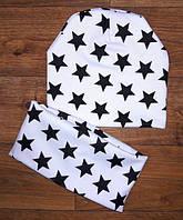 ПОДВІЙНА ШАПКА + ХОМУТ!!!  ткань французский трикотаж,шапочка двойная  идет от 1-10 лет