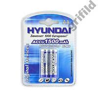 2шт Аккумулятор пальчиковый Hyundai AA 1500 mAh