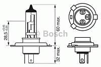 Лампа h4 60/55w 12v longlife daytime картон (производство Bosch ), код запчасти: 1987302048
