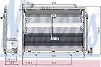 Конденсатор кондиционера Mercedes (производство Nissens ), код запчасти: 94284