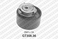 Натяжной ролик, ремень ГРМ Fiat 504010846 (производство NTN-SNR ), код запчасти: GT358.36