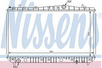Радиатор охлаждения Chevrolet LACETTI (производство Nissens ), код запчасти: 61633