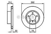 """Гальмівний диск bmw 1/3 f """"04 (производство Bosch ), код запчасти: 0986479214"""