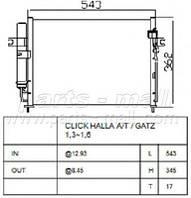 Конденсатор кондиционера Hyundai Getz (производство Parts-Mall ), код запчасти: PXNCA-078