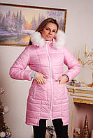 Пальто стеганное зима розовое, фото 1