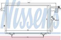 Конденсатор кондиционера Audi (производство Nissens ), код запчасти: 94213