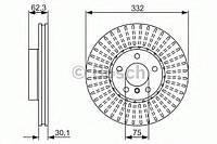 Гальмівний диск bmw x5(e70),x6(e71) 07- f (производство Bosch ), код запчасти: 0986479624