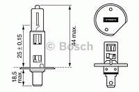 Лампа h1 plus 50 12v w-v (производство Bosch ), код запчасти: 1987302019