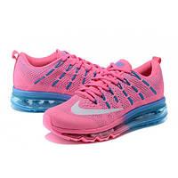 Женские кроссовки Nike Air Max 2016 розовые с голубым