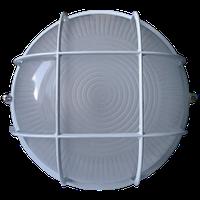 Светильник баня-сауна НББ 100вт IP54 Круг с решеткой Белый