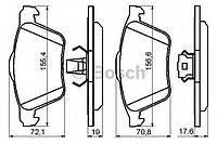 """Гальмівні колодки volvo s60/xc90 """"f """"00-09 (производство Bosch ), код запчасти: 0986494158"""