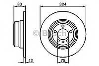 Гальмівний диск bmw x5 e53 r (производство Bosch ), код запчасти: 0986479167
