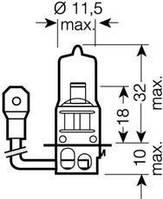 Лампа накаливания, фара дальнего света (производство Osram ), код запчасти: 64151NBU