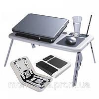Подставка столик для ноутбука E-Table LD 09 2мя USB кулерами,  Етейбл, Е тейбл