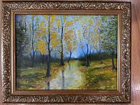 Картина маслом на холсте Осенний пейзаж 30х40