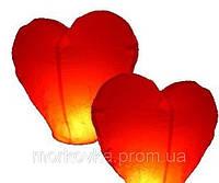Летающие небесные Китайские фонарики 10шт  сердце