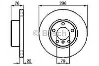 Диск тормозной BMW 5 (E39) передний вентилируемый (производство Bosch ), код запчасти: 0986478848