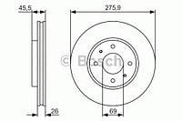 Гальмівний диск pr2 mitsubishi lancer ix (производство Bosch ), код запчасти: 0986479R94