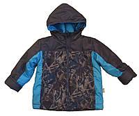 Демисезонная куртка для мальчика на флисе  р.86-146