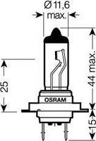 Лампа h7 24v 70w px26d fs standard (производство Osram ), код запчасти: 64215