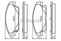 """Гальмівні колодки дискові chevrolet/opel cruze/orlando/astra j """"f """"16 """"09 (производство Bosch ), код запчасти: 0986494434"""