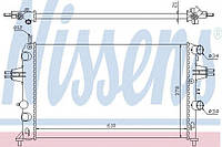 Радиатор охлаждения Opel (производство Nissens ), код запчасти: 63091