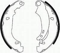 Колодки гальмівні барабанні (производство Ferodo ), код запчасти: FSB584