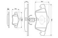 Колодка тормозная VW TRANSPORTER T4 BUS (производство Bosch ), код запчасти: 0986494008