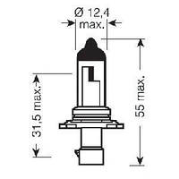 Лампа hb4a 12v 51w p20d 10xbd (производство Osram ), код запчасти: 9006XS